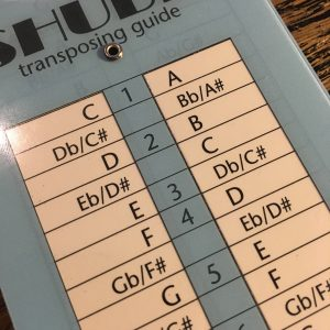 Shubb Transposing guide : placement du capodastre